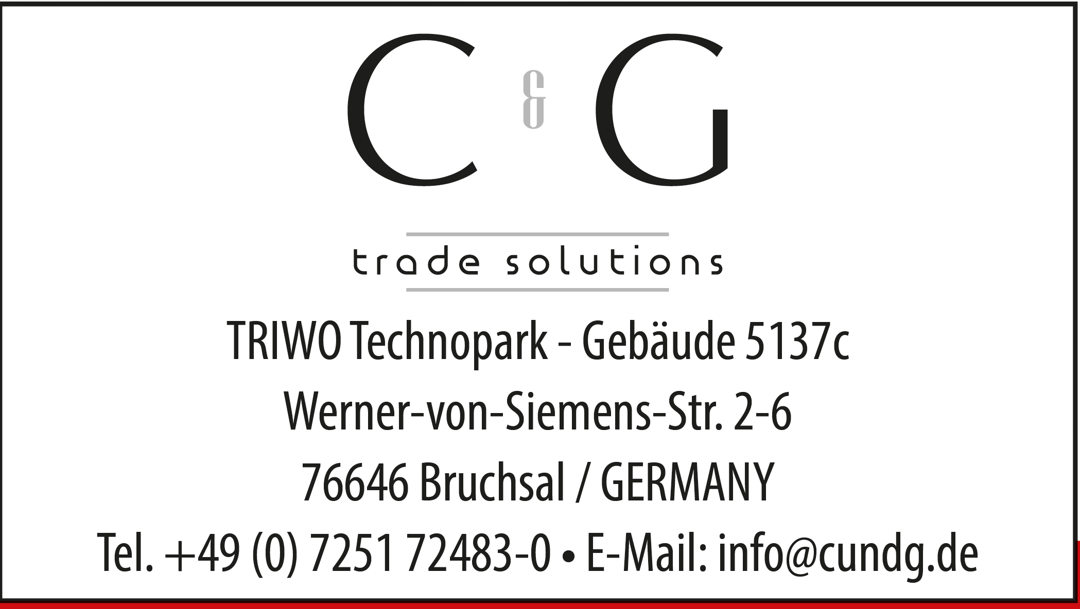 C & G GmbH trade solutions